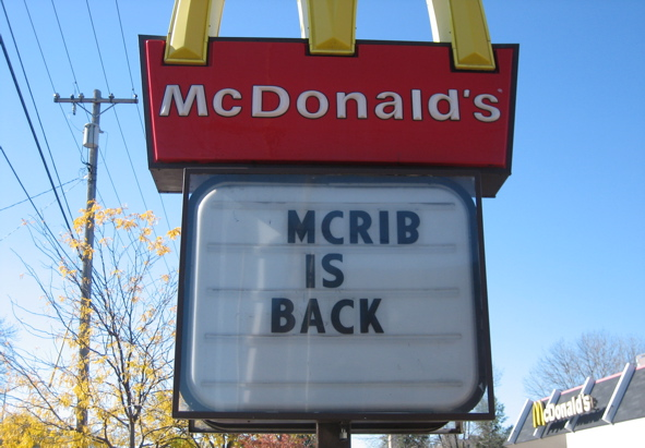 McRib is back and here is gastric bypass review