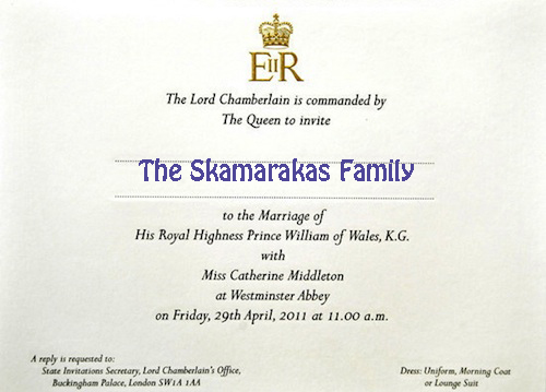 william and kate wedding invitation. Prince-William-Kate-Middleton-