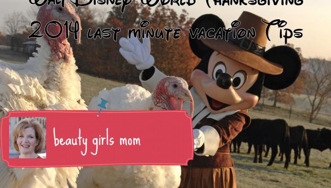 Walt Disney World Thanksgiving 2014 last minute vacation